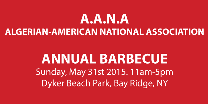 ALGERIAN-AMERICAN ANNUAL BARBECUE